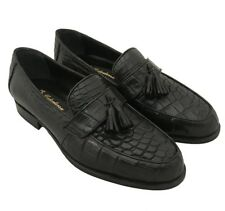 Men's Alligator Dress Shoes Loafers Exotic Crocodile Penny Slip On 7.5 7 1/2