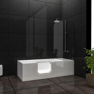Vitra Combo Senioren Badewanne mit Tür komplett inkl Duschaufsatz Schürze Sitz