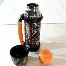 Subzero Vacuum Thermos Stainless Steel Double Wall 34oz Carry Strap camouflage