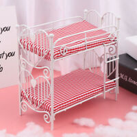 1:12 Dollhouse Miniature Bed Two-layer Bed Furniture Model Toy Doll House Dec MW
