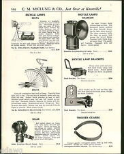 1921 ADVERT Solar Shanklin Delta Bicycle Gas Lamp Lamps