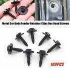 100X/Set Car Body Moulding Fender Panel Screw Washer Kit Fastener Clip Universal photo