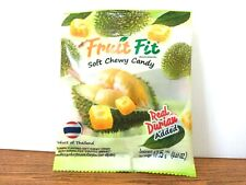 Real  Durian Fruit Fit Soft Chewy Candy Snack Dessert Product of Thailand