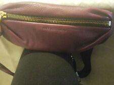 Aimee Kestenberg Milan Leather Fanny Pack Belt Bag BURGUNDY NEW $128