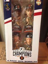 Giants 2014 World Series 4 Pack Mini Bobblehead Posey Sandoval Pence Bumgarner