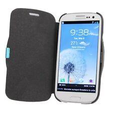 Flip Cover Case für Samsung Galaxy S3 GT I9300 Schutz Tasche Schwarz Etui