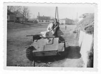 SELTEN Original Foto, II WK Russischer Beutepanzer T-70, Russland Winter 1942-43