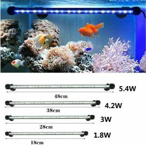 Aquarium Fish Tank LED Light Submersible Waterproof Bar Strip Lamp 18-48cm Rs