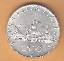 ITALIA LIRE 500 ARGENTO CARAVELLE FIOR DI CONIO 1981
