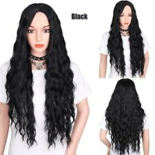 Fashion Women's Long Curly Wigs Blonde Wavy Hair Party Cosplay Costume Wigs-24""