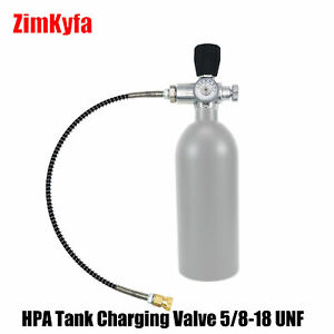 Paintball CO2 Tank Compressed Air DIN Valve Fill Station with Quick Disconnect