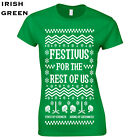 Festivus for the rest of us Womens T-Shirt gift new ugly christmas sweater 534