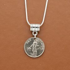 Philippines - Coin Necklace - 1962 10 Centavos, coin jewelry, foreign coin