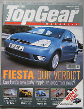 Top Gear 02/2002 featuring Subaru Impreza WRX, AMG, BMW M3, Lotus, Mini Cooper