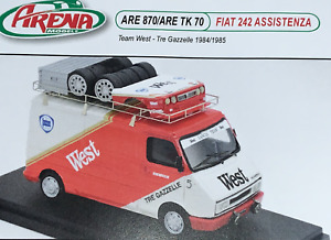 RALLY 1/43 CODE 3 DECAL ARENA FIAT 242 ASSISTANCE TRE GAZELLE LANCIA 037 WEST