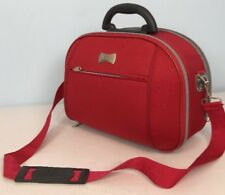 Sander Red Travel Makeup Cosmetic Case Bag Suitcase CarryOn Strap Handle Reydix