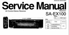NATIONAL SA-EX100 AV CONTROL STEREO RECEIVER SERVICE MANUAL BOOK IN ENGLISH