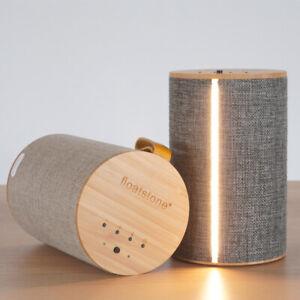 BlueTooth Surround Sound Speaker Table Night LED Lamp Desk Bedside Nightlight