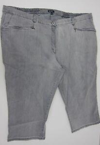 Ulla Popken Mony Denim Stretch Capri Jeans - Womens US 30 - Grey - NWT