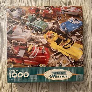 VTG Springbok by Hallmark Jigsaw Puzzle Kidde Car Classics 1000 piece New NOS