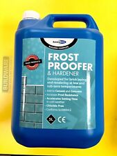 FROST PROOFER & RAPID HARDENER FOR BRICK LAYING & RENDERING 5LTR BOND-IT