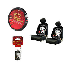 New Betty Boop Timeless Car Truck Seat Covers Steering Wheel Cover Key-Chain