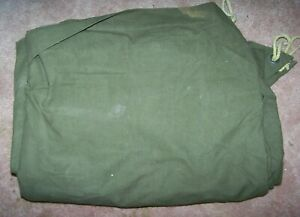 PUP TENT SHELTER HALF, OD GREEN, SNAP STYLE, U.S. ISSUE *NICE*