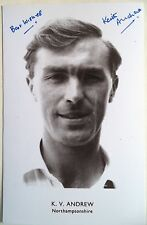 KEITH ANDREW NORTHAMPTONSHIRE & ENGLAND SIGNED CRICKET POSTCARD