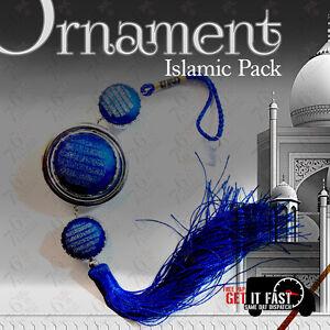 BLUE ISLAMIC MUSLIM CAR HANGING ORNAMENT RELIGIOUS GIFT FOR MUSLIM ROUND BIG