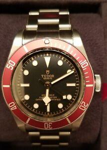 TUDOR Black Bay Men's Black Watch with Stainless Steel Bracelet - M79230R-0012