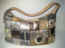 All Italian Leather Applique Evening Bag By Famous Italian Designer Gai Mattiolo