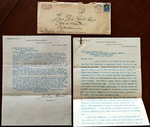 Andreas Bloom Counsellor-a-Law, Boston, Massachusetts, USA 2 x Letters 1911 & 12
