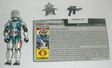 1987 GI Joe Cobra Commander v3 w/ Battle Armor Figure & File Card *Near Complete