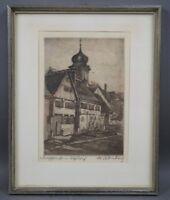 Walter Romberg (1898 - 1973) - Dorfschloss in Alfdorf - handsignierte Radierung