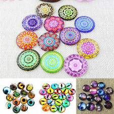 100pcs Glass Crystal Mosaic Tiles  Mixed Colors Cabochons Crafts Jewelry Making