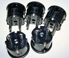 5 Sück Netzkabel Stecker 90° 2 polig 10-16 A 250 Vac Schraubt. EU Typ  Rp. 1013