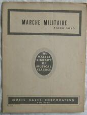 Marche Militaire Franz Schubert Piano Solo Vintage Sheet Music