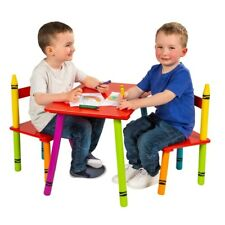 Crayon Table and Chair Set Solid Wood NEW