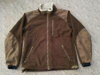 EUC KUHL Men's Alpenwurxs Fleece Jacket Coat Color Brown Size Small S Full Zip