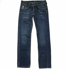 G Star Raw Mens Attacc Low Straight Light Wash Distressed Button Fly Jeans 30x32