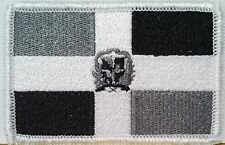 REPUBLICA DOMINICANA FLAG Embroidered Iron-On PATCH  EMBLEM GRAY & BLACK  #464