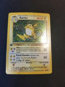Carte Pokémon Raichu 14/102 Edition 1 Set De Base Français Wizards