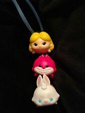 Disney Tsum Tsum Alice in Wonderland Rabbit Cheshire Cat Christmas Ornament Med