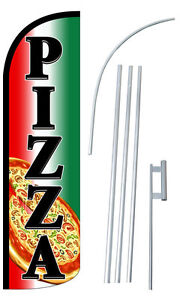 PIZZA Flag Kit 3' Wide Windless Swooper Feather Advertising Sign