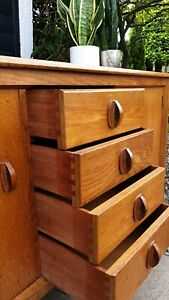 ☆ New Price - Lovely Scandi Vintage Oak Cabinet Perfect Size  - Free Delivery ☆