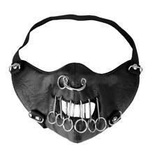 Damen Herren Ledermaske Bondagen Maske Kopf Steampunk Stil Maske Kopfmaske