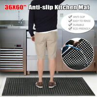 "36""x60"" Anti-Fatigue Floor Mat Heavy Duty Commercial Restaurant Kitchen Non-slip"