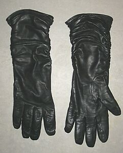 SIMPLY VERA WANG BLACK LEATHER DRIVING OPERA GLOVES WOMEN'S SIZE XL