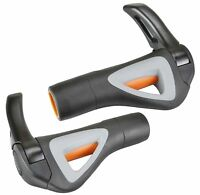 Hafny HF-151 Bicycle Mountain Bike Handlebar Grips with Bar-ends Black-Gray