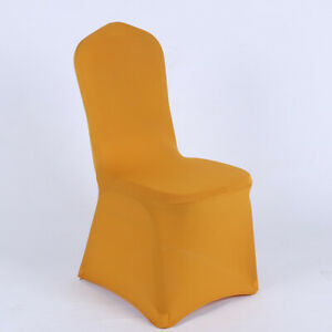1/4/6PCS Stretch Spandex Chair Cover Dining Room Wedding Banquet Seat Covers